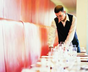 waiter at a restaurant